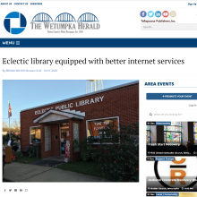 Thumbnail Image of a outside Eclectic Library building